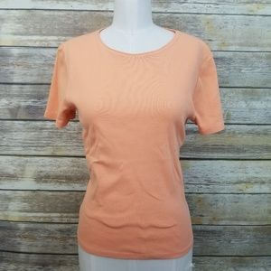 Ralph Lauren Orange Short Sleeve Top Tee SMALL